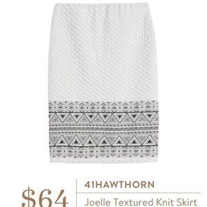 41 Hawthorn Joelle textured knit pencil skirt